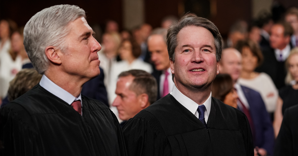 Supreme Court Justices Neil Gorsuch and Brett Kavanaugh attend the State of the Union address