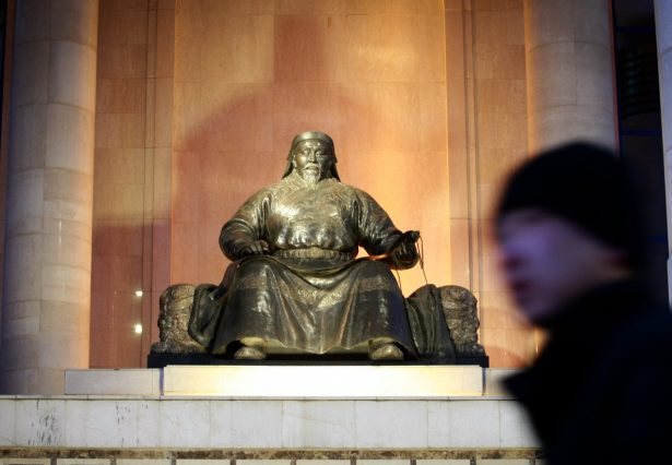 The statue of Kublai Khan