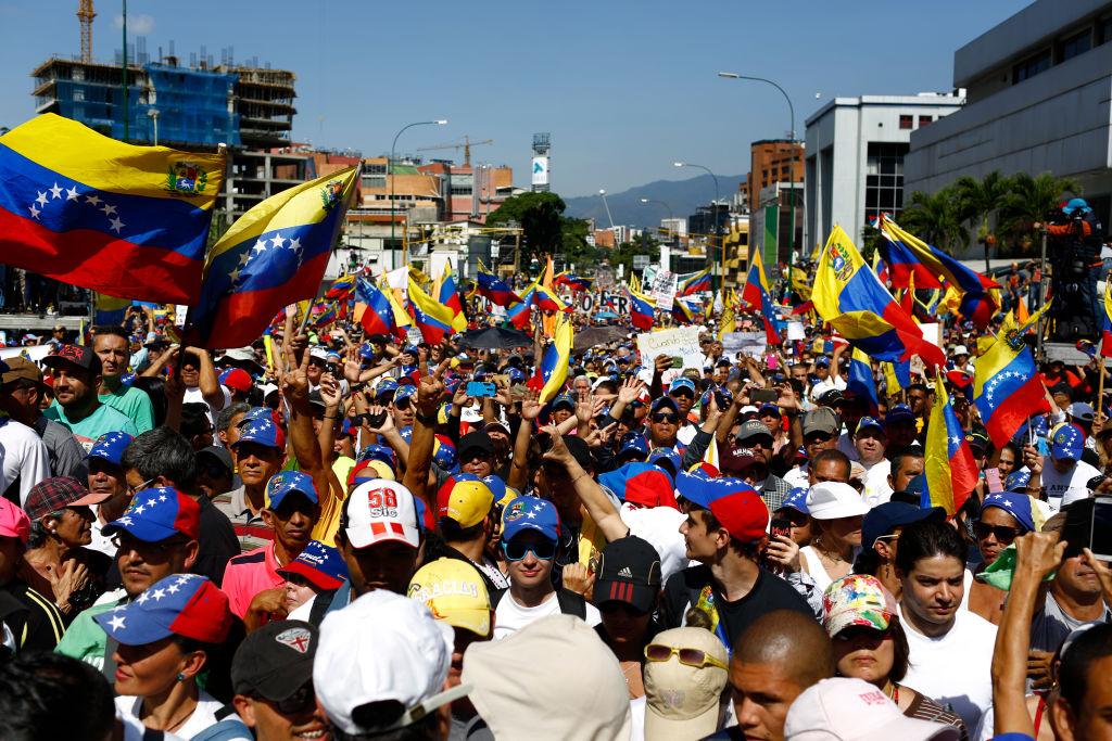 Protest in Caracas Against Nicolás Maduro
