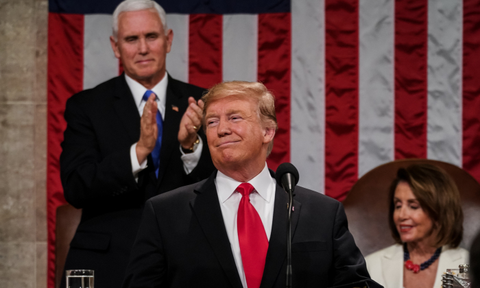 President Donald Trump during the State of the Union address