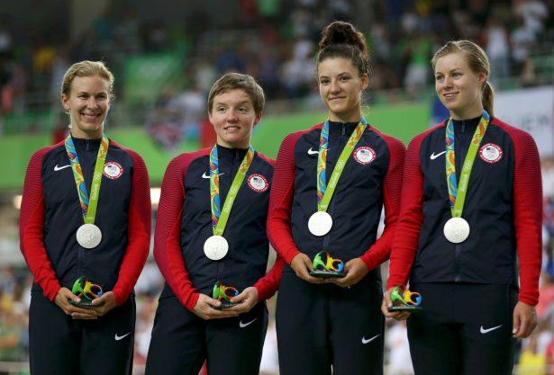 2016 Rio Olympics - Cycling Track - Victory Ceremony