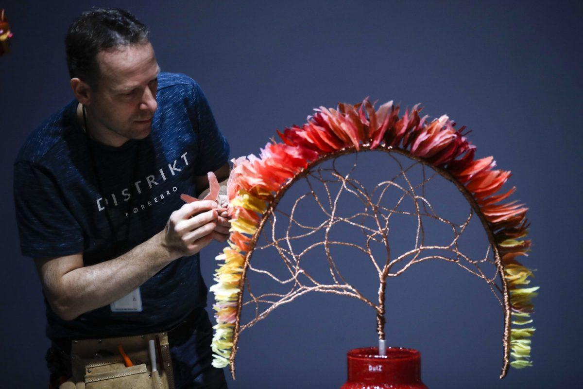 Florist Hans Zijlstra of the Netherlands