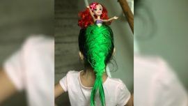 Little Girl's Creative Hair Wins School Competition With Inspiration From the Little Mermaid