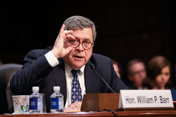 Attorney General nominee William Barr testifies on the first day of his confirmation hearing in front of the Senate Judiciary Committee at the Capitol in Washington