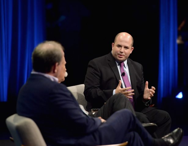 Brian Stelter onstage