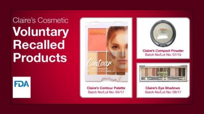 Claire's Recalls Makeup Possibly Contaminated With Asbestos