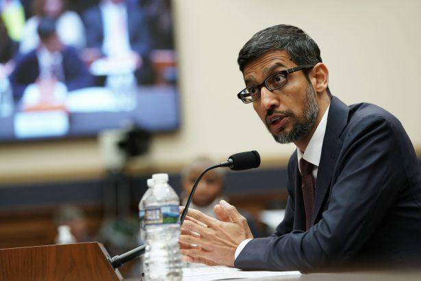 Google CEO Sundar Pichai testifies before the House Judiciary Committee