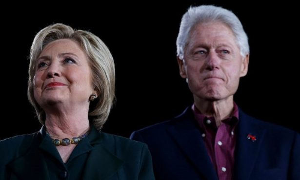 Former Secretary of State Hillary Clinton and former President Bill Clinton in Las Vegas