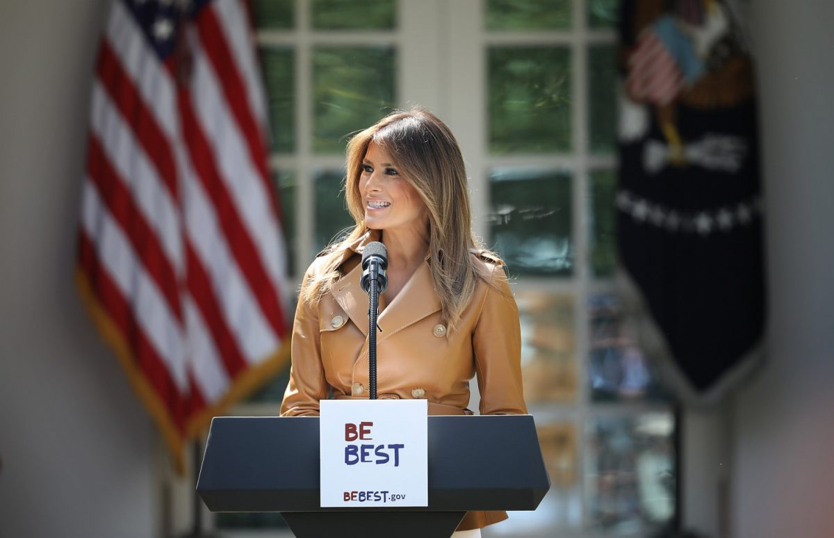 First lady Melania Trump speaks (Be Best Campaign)