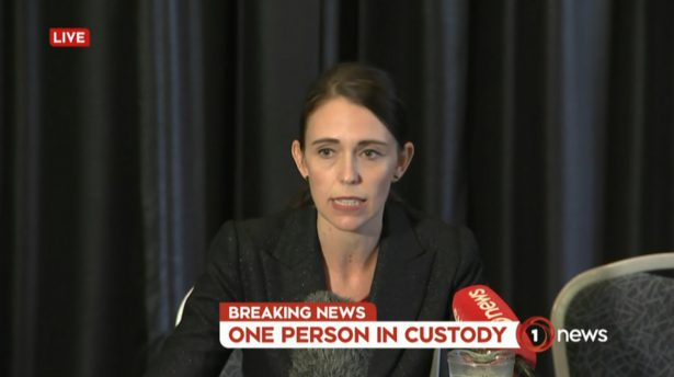 New Zealand PM Jacinta Ardern speaks after mosque shooting