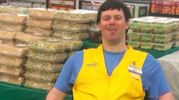 walmart greeter with cerebral palsy gets new post as jobs