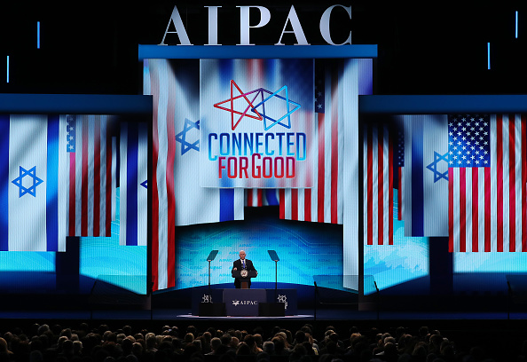 At AIPAC, Pence continues Trump attacks against Democrats