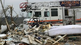 Rescue Crew Using Dogs and Drones to Look for Victims of Tornado That Killed 23