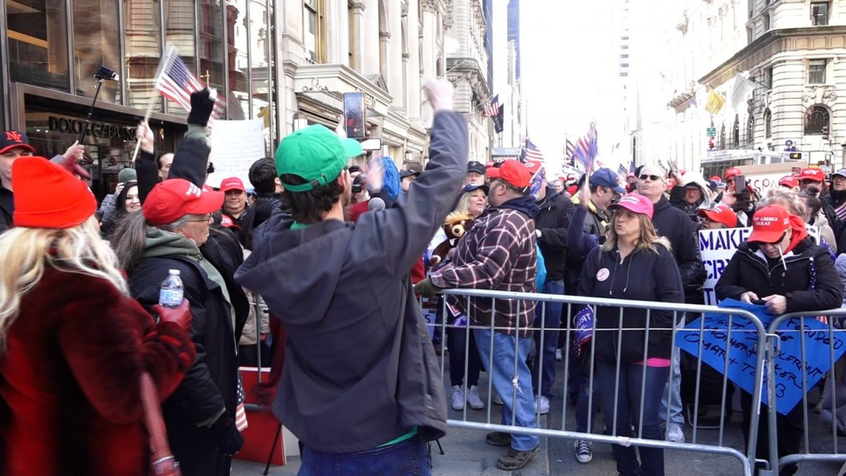 Trump Tower rally