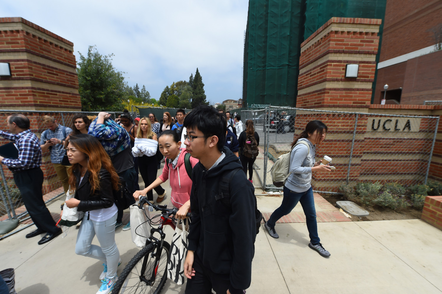 Students at the University of California in Los Angeles