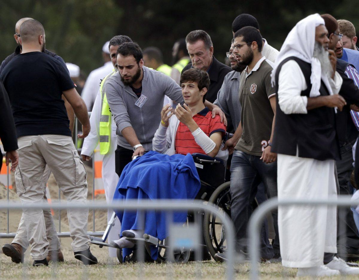 Zaed Mustafa, in wheelchair
