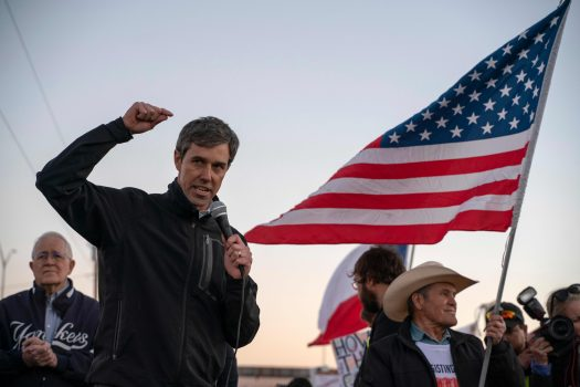 Former Texas Rep. Beto O'Rourke speaks in El Paso, Texas,