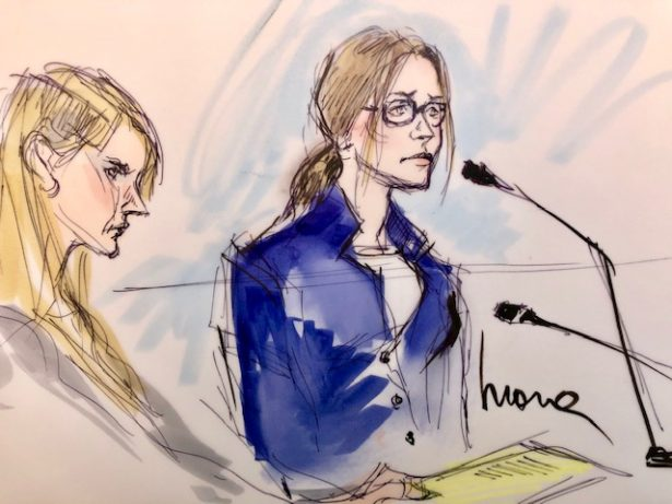 Felicity Huffman court sketch