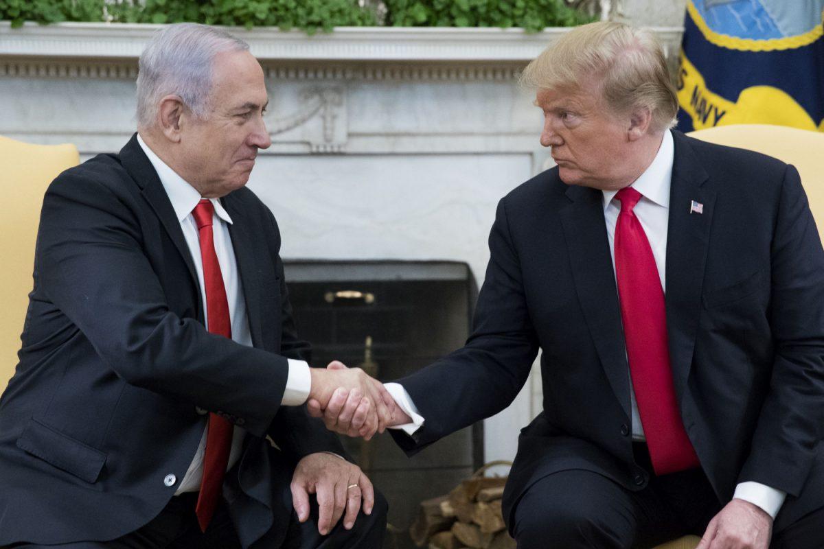 President Donald J. Trump (R) and Prime Minister of Israel Benjamin Netanyahu