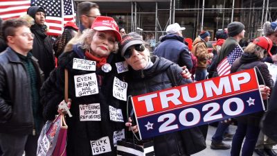 Trump Supporters Gather at Trump Tower With Message for New York City