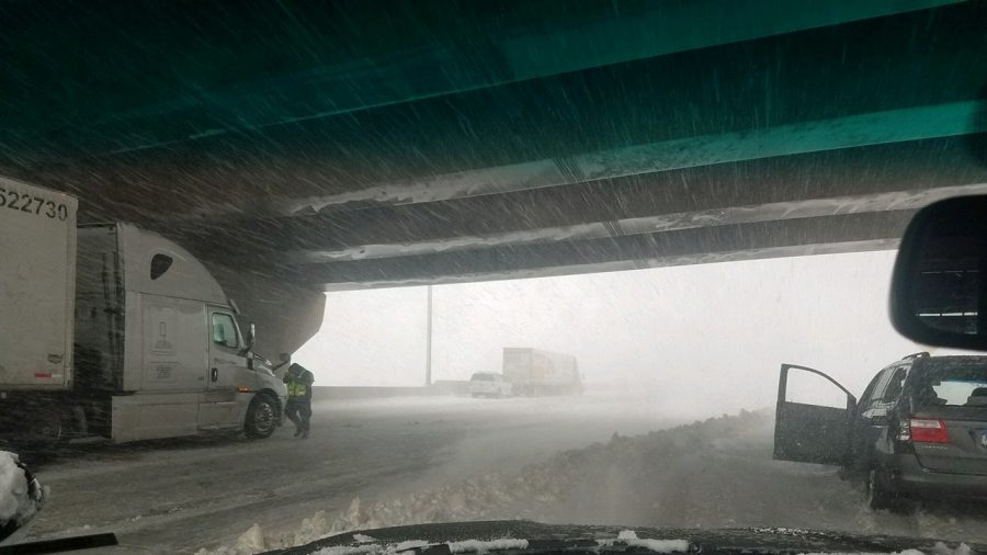 Video Shows 'Bomb Cyclone' Blowing Over 18-Wheeler