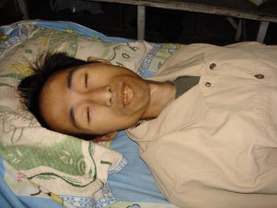 Lei Ming after being released from prison.