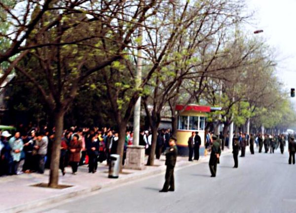 When Falun Gong practitioners began arriving on Fuyou Street