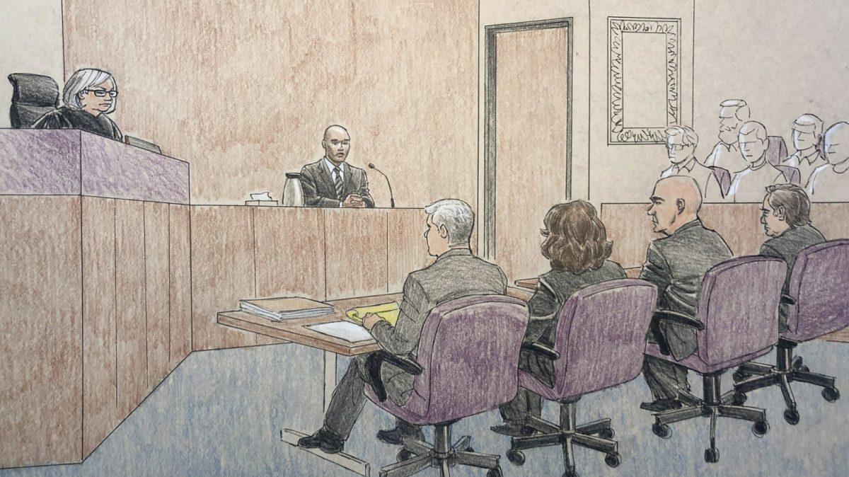 Courtroom Sketch Minneapolis police officer Mohamed Noor