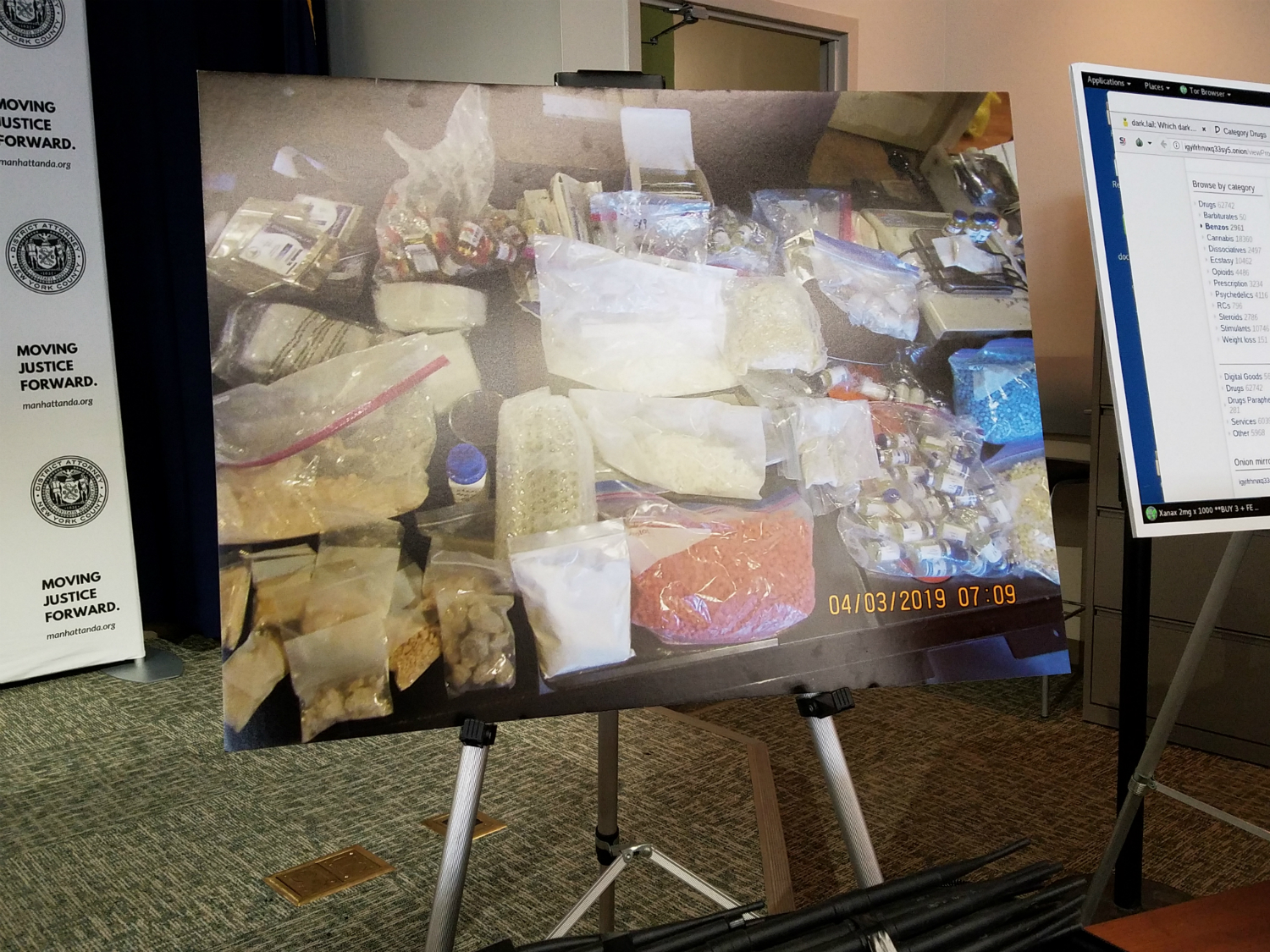 Picture of seized drugs.
