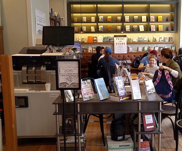 The Espresso Book Machine at Shakespeare & Co. bookstore, Broadway, on March 13, 2019.