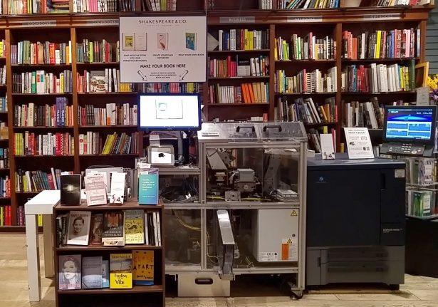 The Espresso Book Machine in the Shakespeare & Co. bookstore at Lexington Avenue, on March 6, 2019.