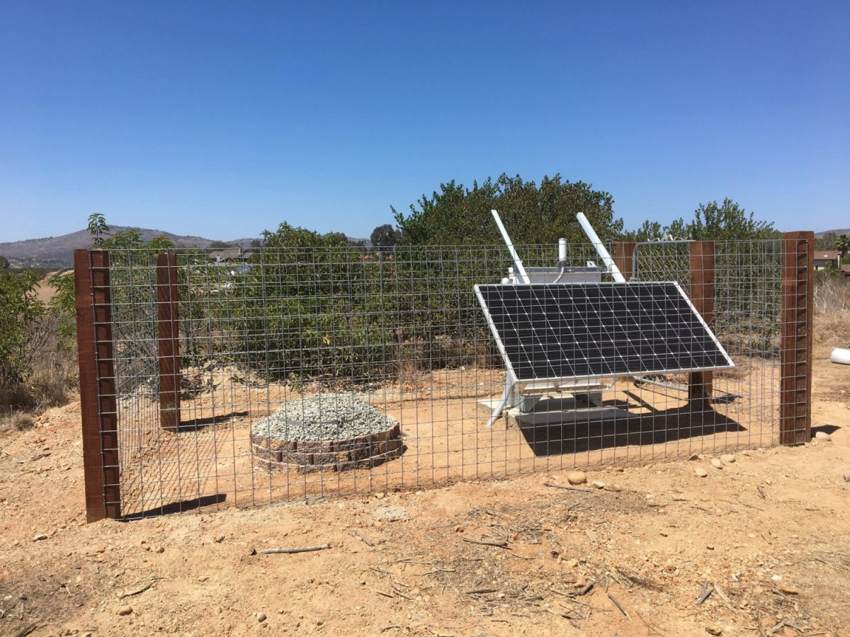 Earthquake monitoring station 1