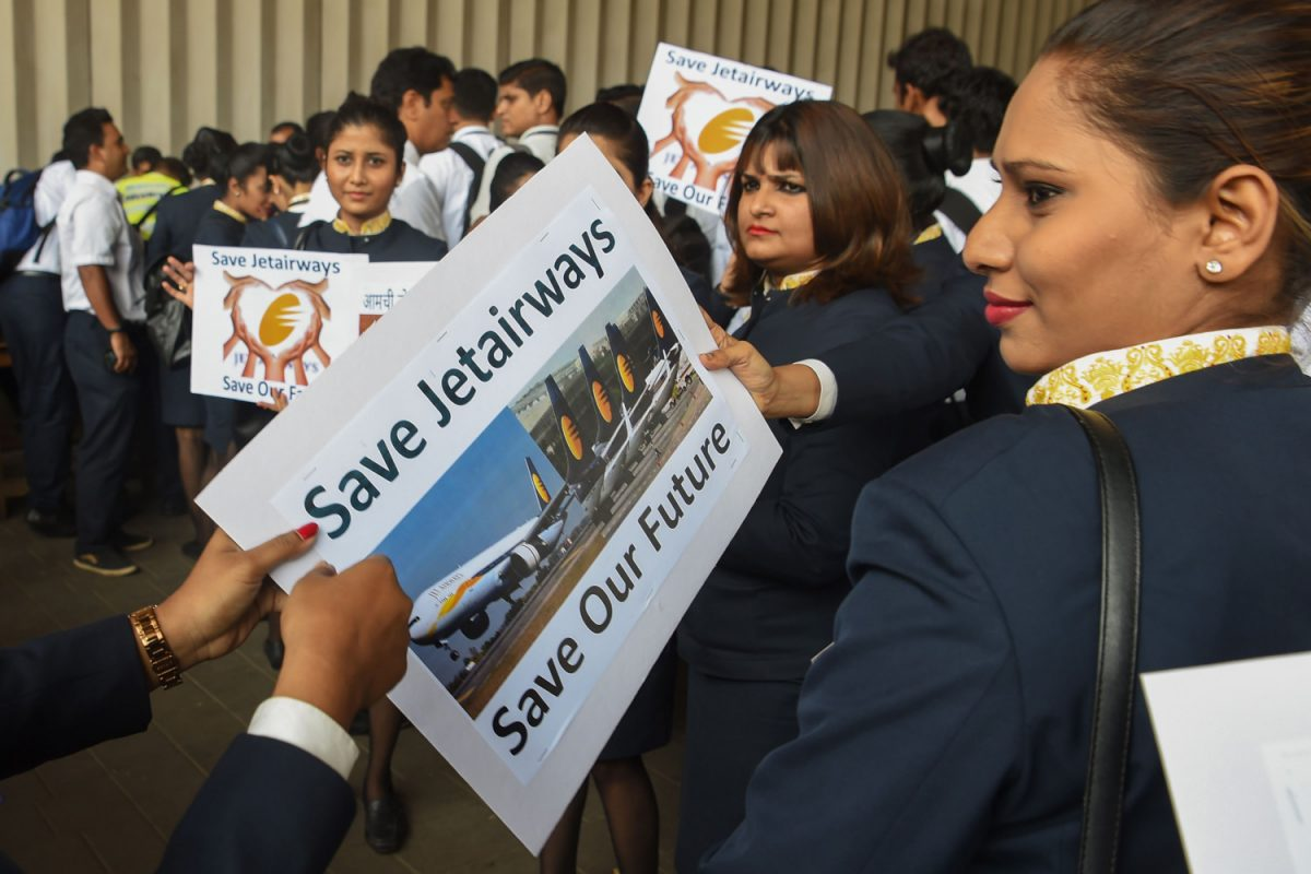 Jet Airways indian economy pilot strike