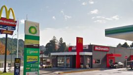 Hunter Makes a Pit Stop at McDonald's Still Carrying His Kill