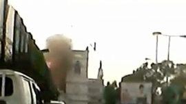 New Dashcam Video of Sunday's Blast at Saint Anthony's Shrine
