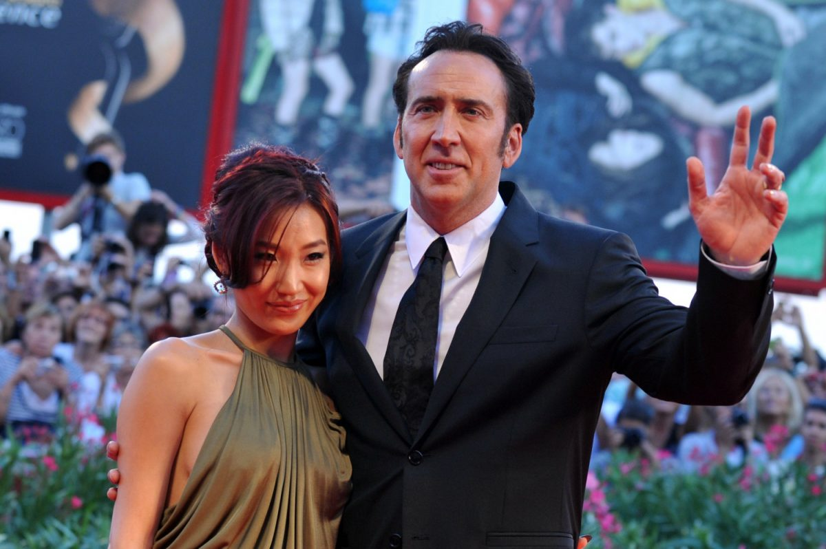 Nicolas Cage and his wife Alice Kim