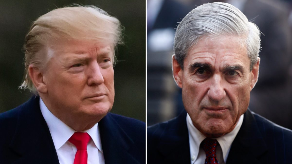 President Donald Trump and former FBI Director Robert Mueller