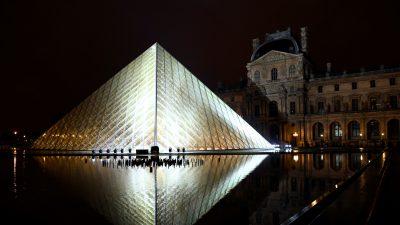 Paris Louvre Museum's Iconic Pyramid Celebrates 30th Anniversary