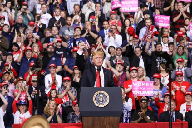 Trump at rally in Grand Rapids Michigan