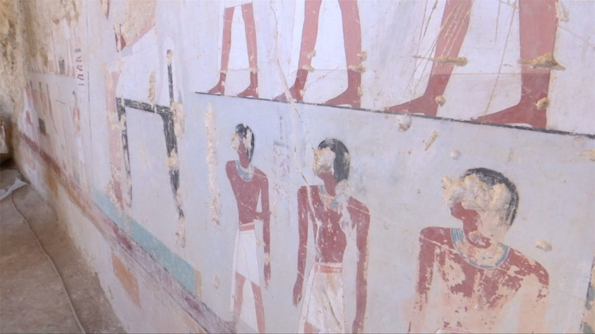 Wall painting of discovered tom