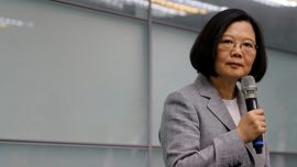 Taiwan President Says Chinese Drills a Threat But Not Intimidated
