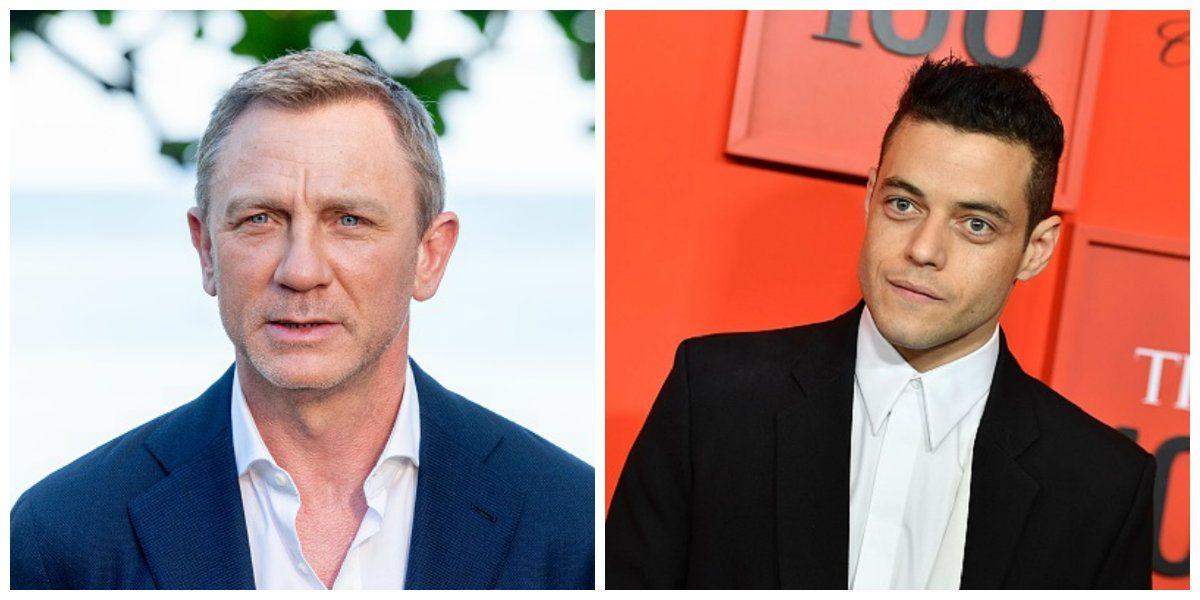 Actor Daniel Craig and Rami Malek