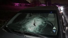 Driver Seriously Injured After Rock Smashes Through Windshield; Police Arrest Two Teens