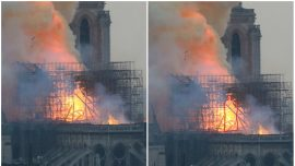 Photo of Notre Dame Went Viral After Mother Says She Saw a Silhouette of Jesus