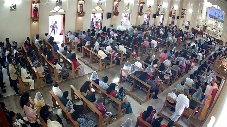 suicide bomber seen entering church