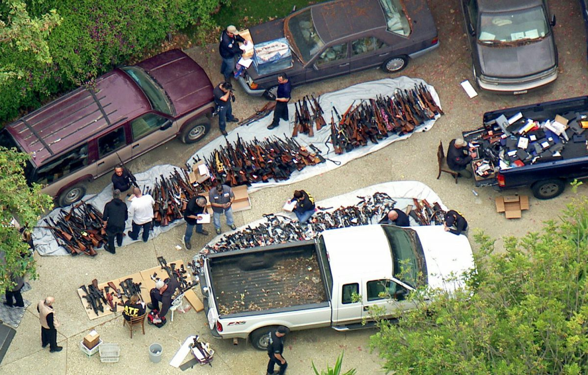 1000 guns seized in home 2