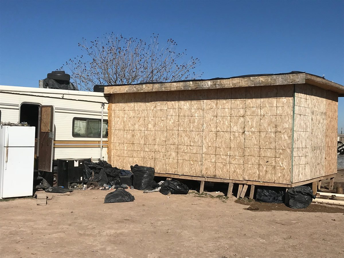 A stash house containing 67 illegal aliens in Dexter, N.M. (ICE)