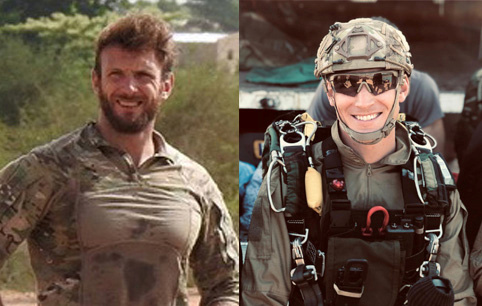 Handout photo shows the two French special forces soldiers killed in a night-time rescue operation of four foreign hostages in Burkina Fasso