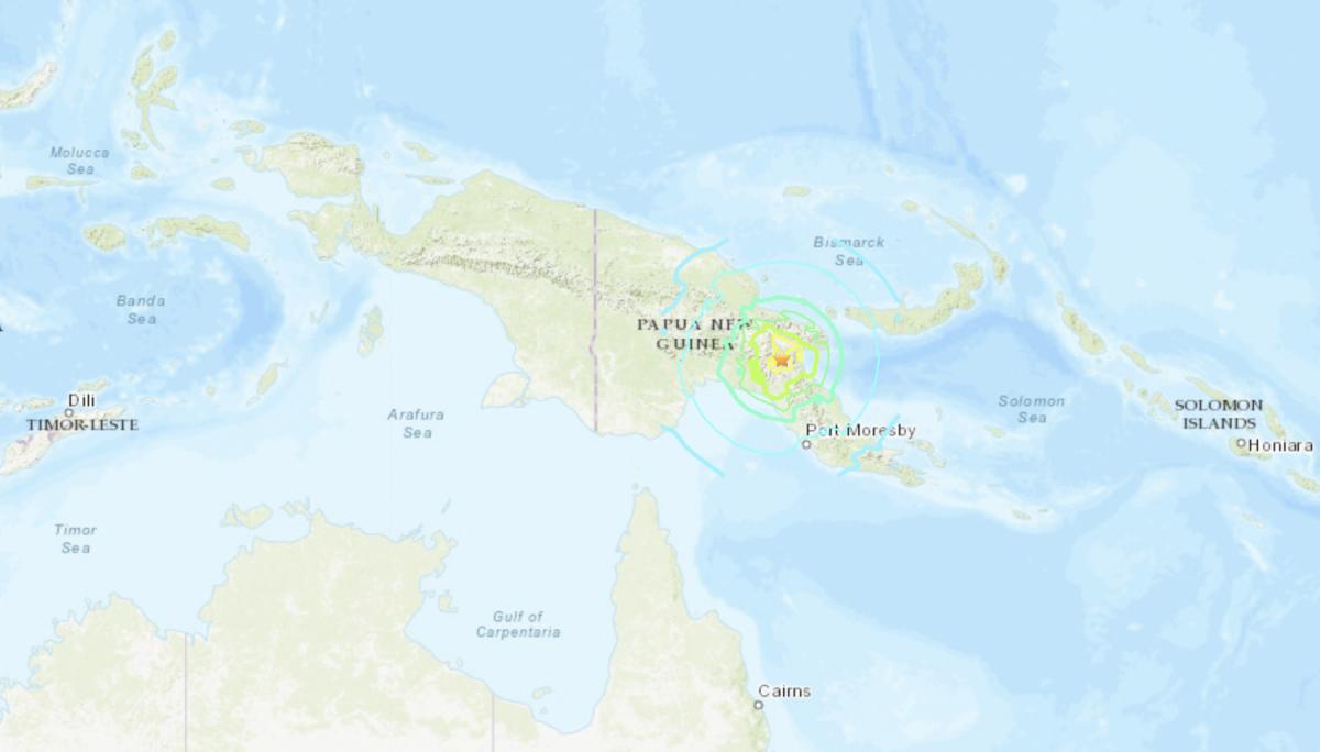 7.2 earthquake papua new guinea 2