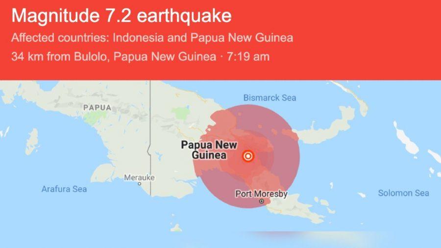 7.2 Magnitude Earthquake Hits Papua New Guinea, So Powerful It Was Felt in Australia